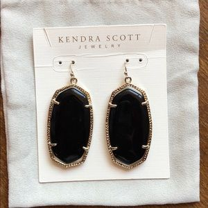 Kendra Scott earrings. Gold/Black.